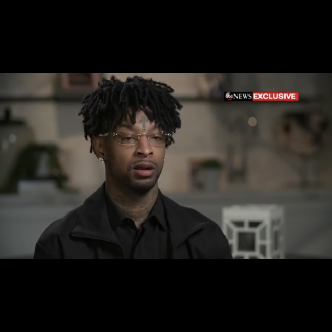 21 Savage admits to being targeted by ICE