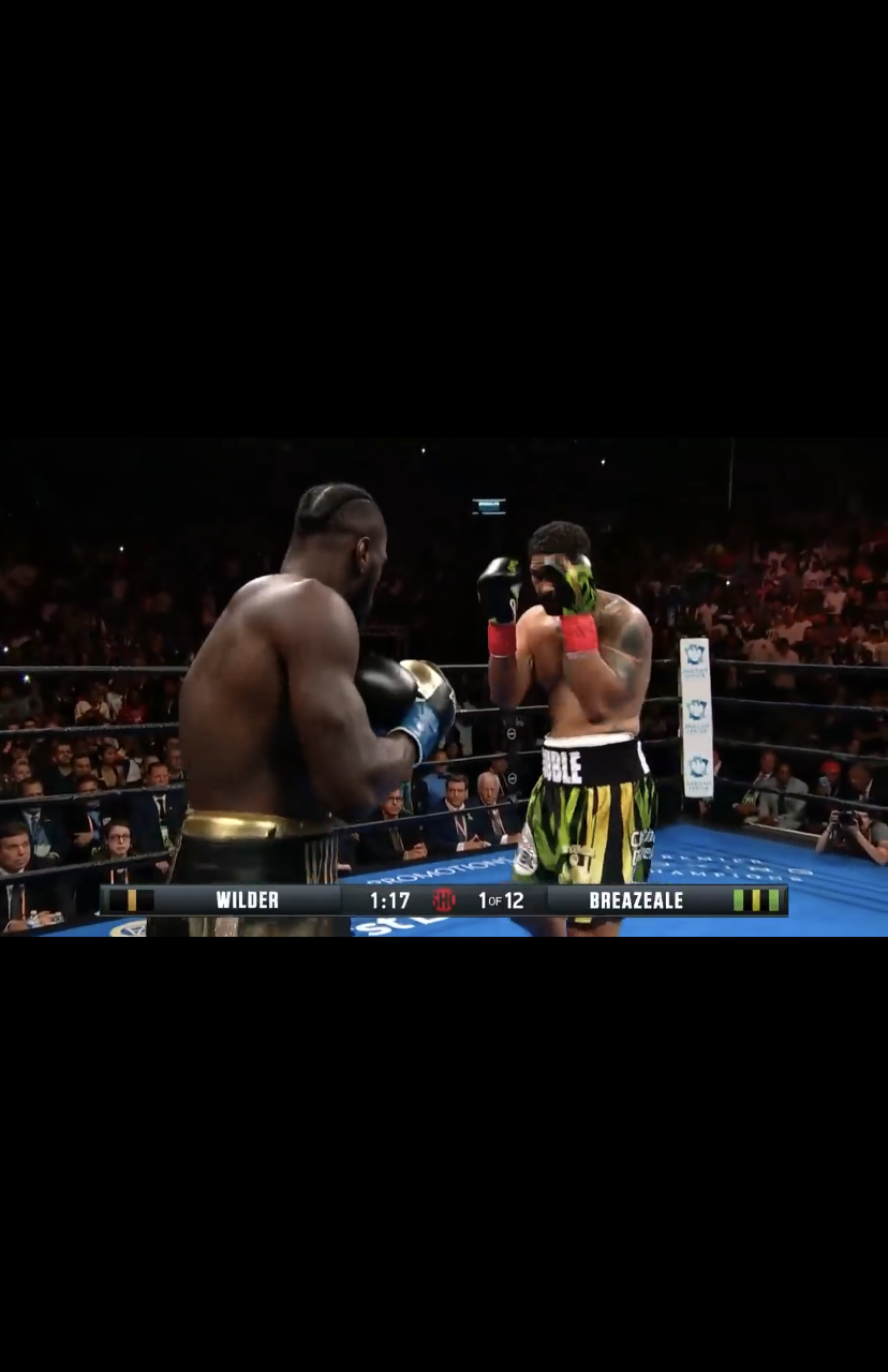 He a Problem: Deontay Wilder ko Breazeale in the first round